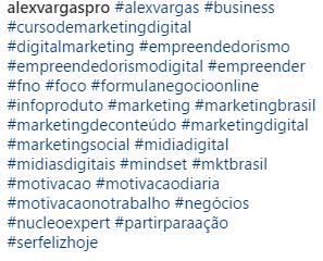 usando hashtags - como ganhar seguidores no Instagram