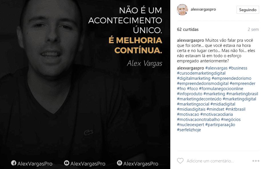 Ganhando seguidores no Instagram usando imagens motivacionais