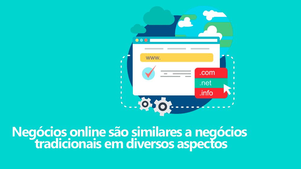 Semelhanças entre negócios online e negócios tradicionais