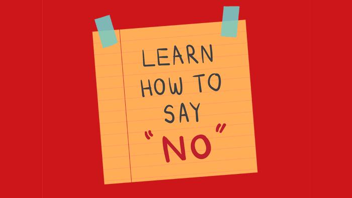 saber dizer não é importante para o sucesso