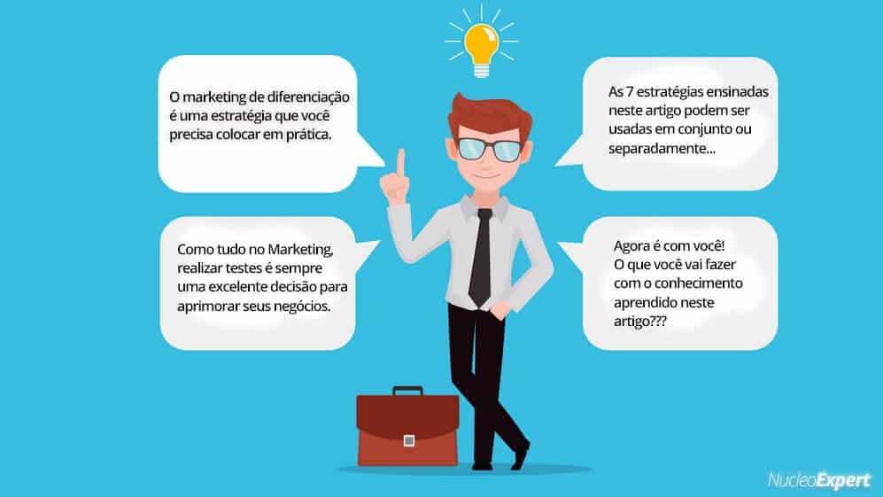 dicas finais de marketing da diferenciação
