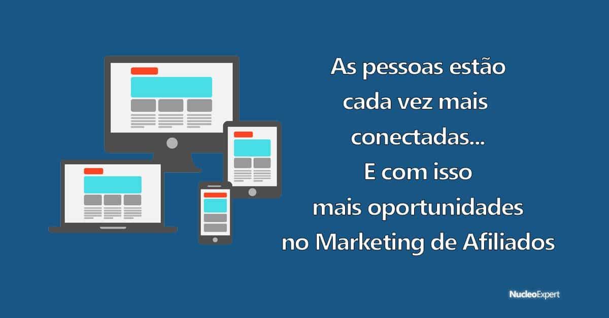 pessoas conectadas, portas para o sucesso no marketing de afiliados