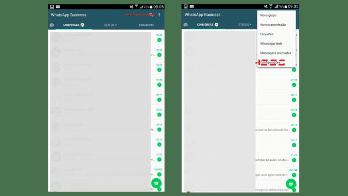 Configurar mensagem de saudação no WhatsApp Business