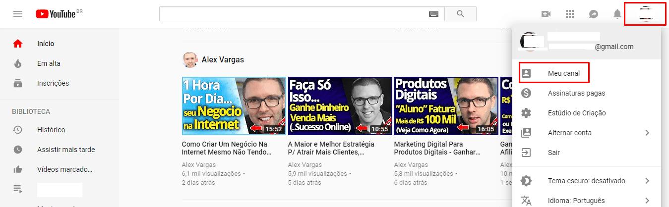 Criando o seu canal no Youtube