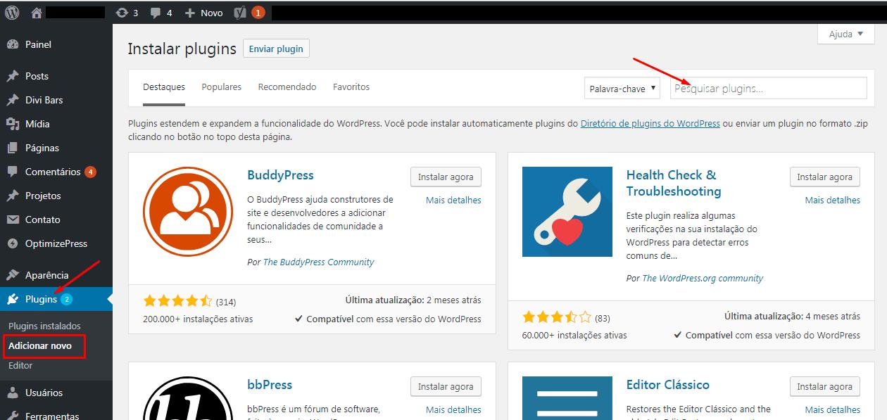 Como instalar plugins no seu site