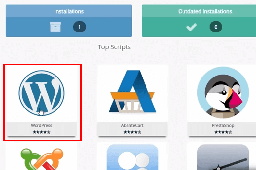 criar o site usando o WordPress