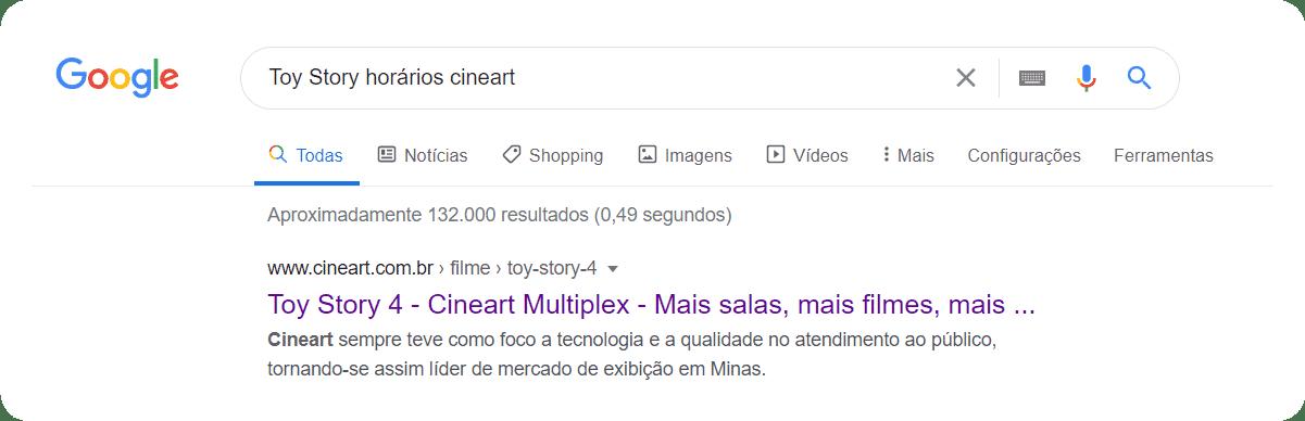 Buscas avançadas no Google por Cinemas