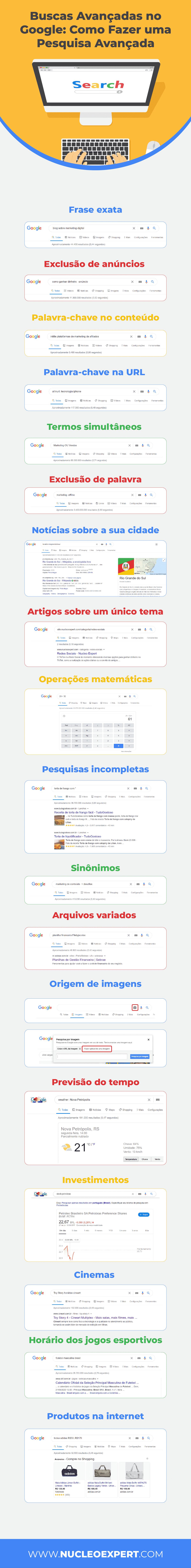 Infográfico |  Como fazer Buscas avançadas no Google