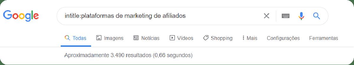 Buscas avançadas no Google com palavra-chave no conteúdo.