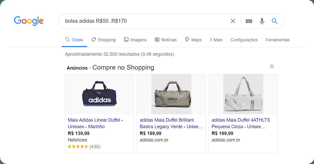 Buscas avançadas no Google por produtos na internet
