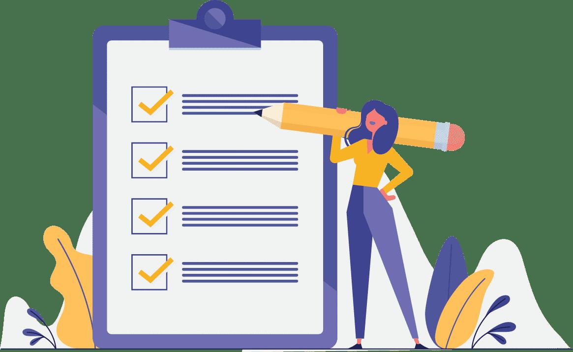 Faça o uso de listas para ter uma visão geral dos conteúdos.