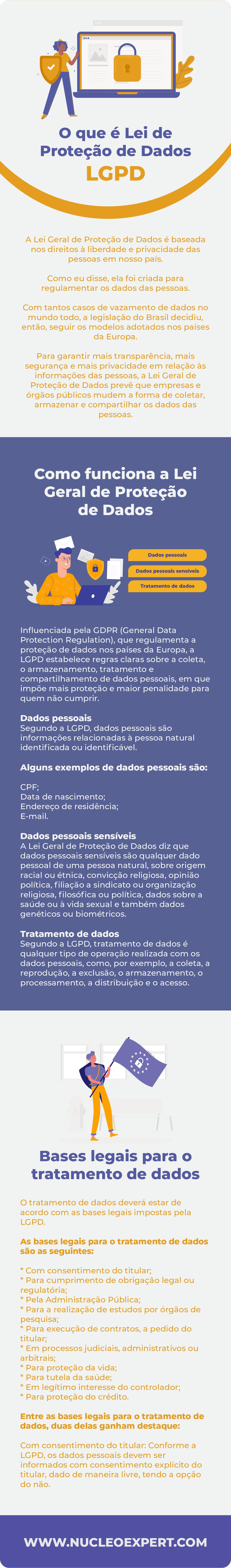Infográfico - O que é Lei de Proteção de Dados