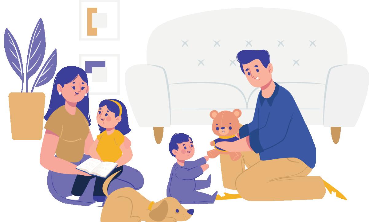 Trabalhando em casa tem mais tempo com a família