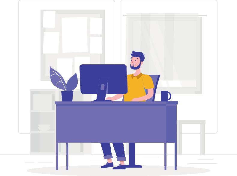 Trabalhar em casa tem o benefício de não precisar se deslocar.