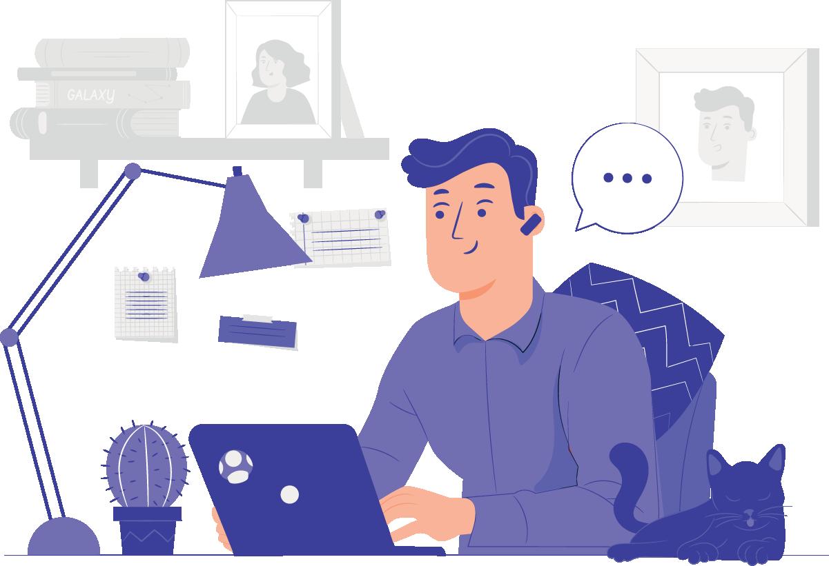 Ofereça consultoria online diretamente da sua casa.