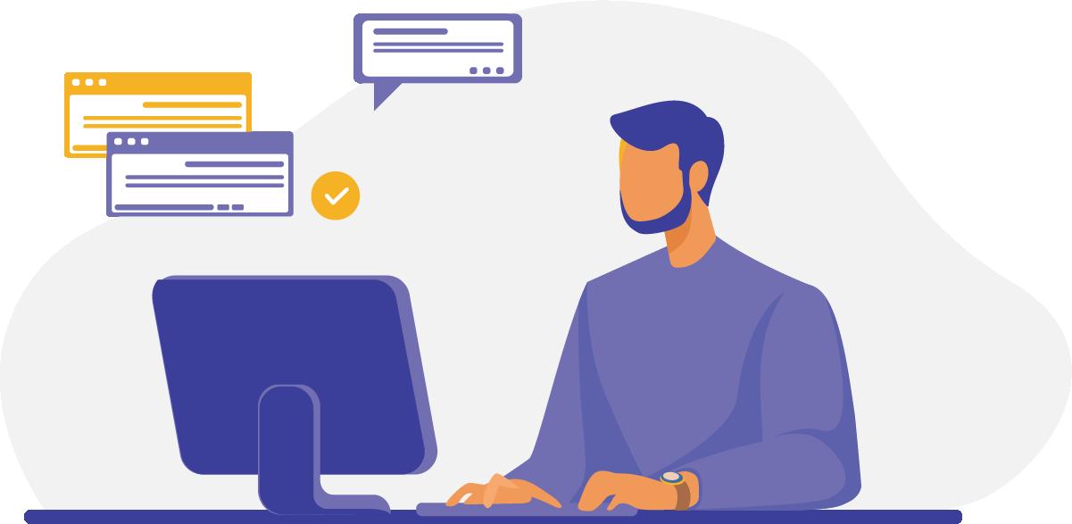 Usar recursos de tecnologia e marketing para se comunicar e se relacionar com o cliente.