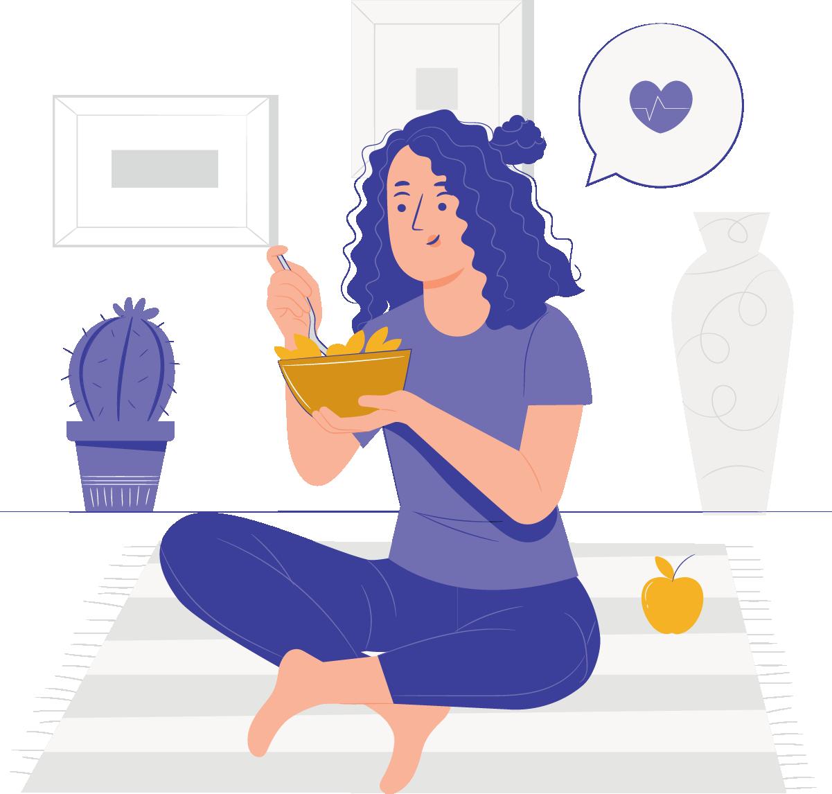 Trabalhando em casa, você vai se alimentar melhor
