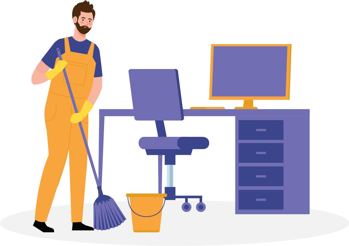 Manter o escritório em casa limpo é garantia de qualidade no seu trabalho.