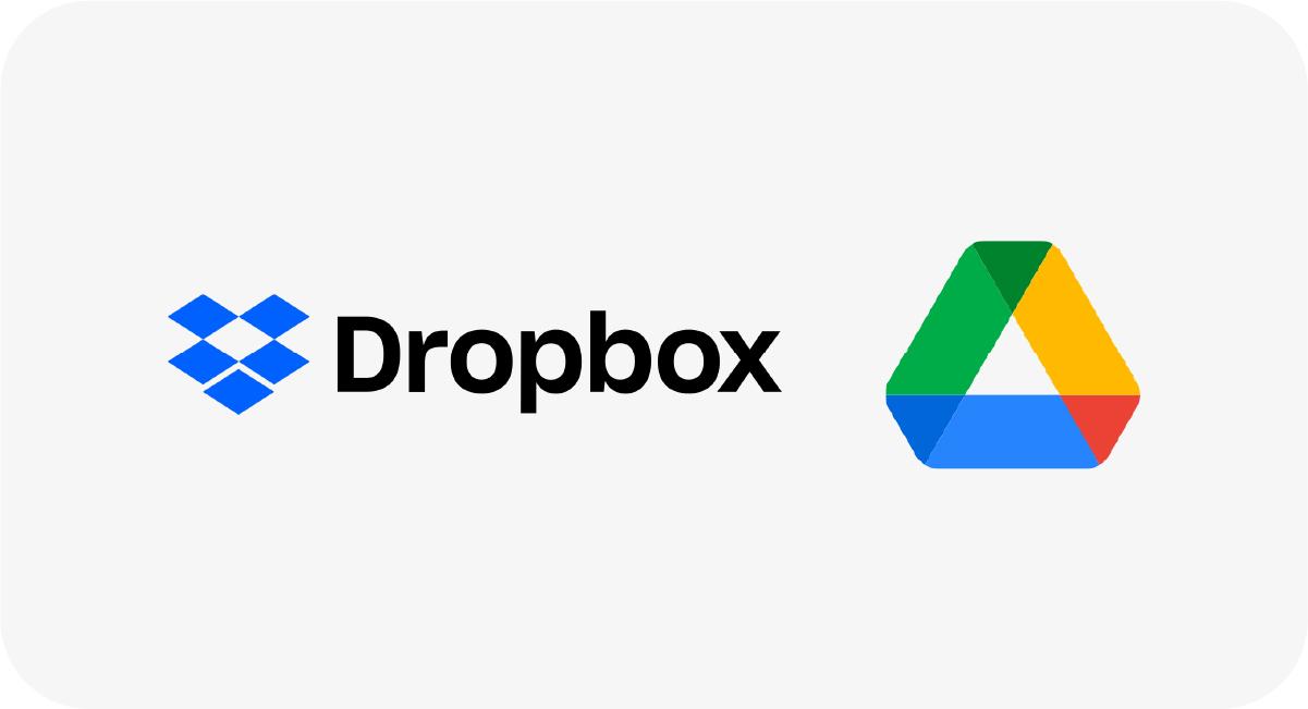 Use o Dropbox e o Google Drive para gestão de arquivos.