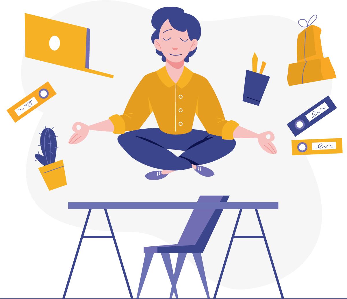 Mantenha sua concentração sempre alta para garantir uma boa produtividade no trabalho em casa.