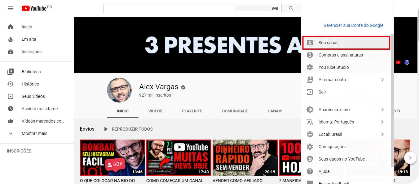 Como criar seu canal no Youtube