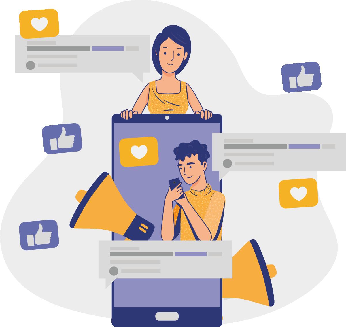 Para convencer o cliente a comprar de você, esteja nas redes sociais.