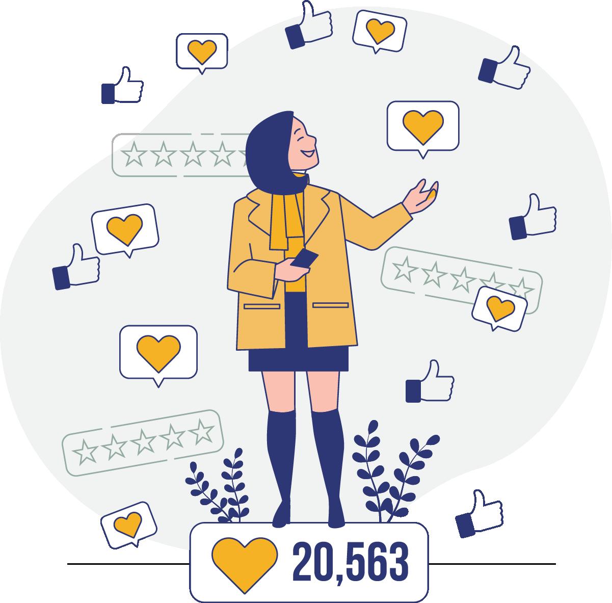 Acompanhe os resultados da sua parceria no instagram