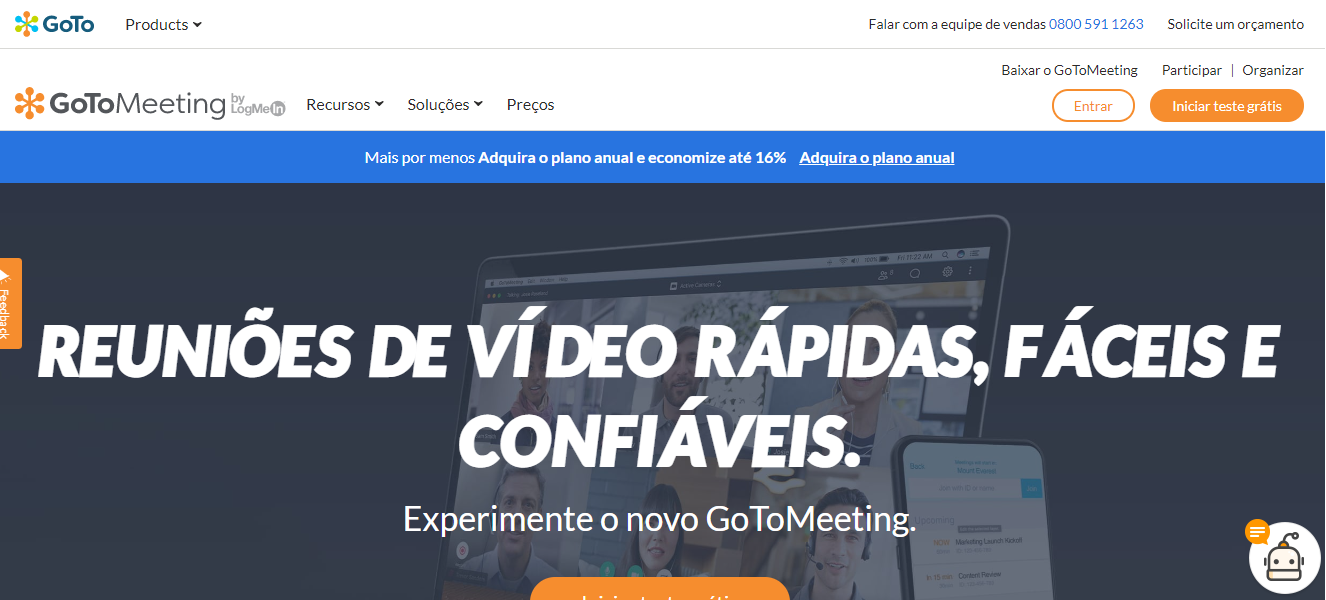 plataforma digital GotoMeeting